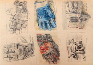 working gloves drawing