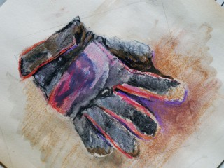 working glove drawing