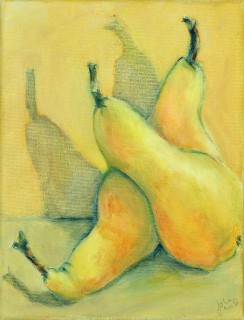 Pears with shadow