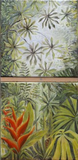 tropical jungle diptych